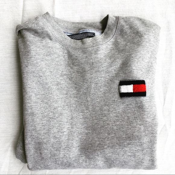 6f2da12f Tommy Hilfiger Shirts   90s Crewneck Sweatshirt Box Logo   Poshmark